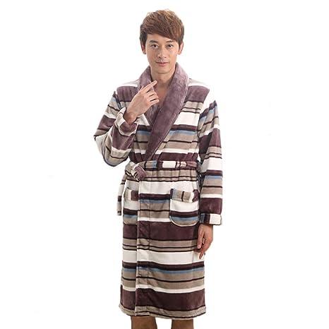 81041b635f GYH Uomo Donna Flanella Vestaglia E Camicia da Notte Adulto Caldo Pigiama E  Accappatoio Kimono Vestaglia