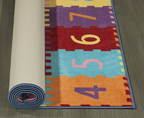 Ottomanson Garden Collection Alphabet Letters and Numbers Design Children Nursery Kid's Play Area Rug, 8'2 X 9'10, Multicolor by Ottomanson (Image #2)