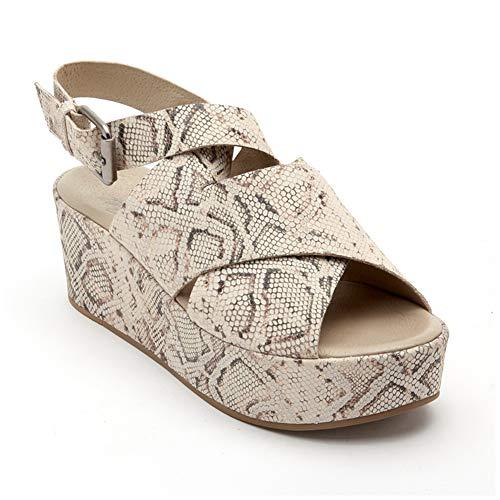 Matisse Women's x Amuse Society - Runaway Natural Snake Leather Sandal