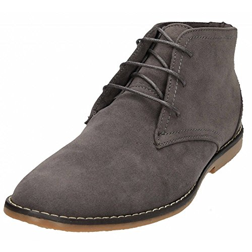 Faux Lace Grey Boots Desert New Navy Grey Up Mens Black Shoes Beige Blue Suede Ankle SqWYRx