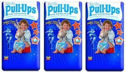 Huggies Large Night-Time Pull-Ups for Boys Size 5 (11-18kg) 3 x 12 (36 Pants)