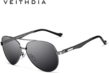 a7c8ff6afc VEITHDIA 3850 Metal Frame Polarized Aviator Sunglasses 100% UV Protection