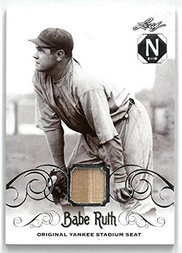 Babe Ruth New York Yankees 2016 Leaf Game Used Stadium Seat Baseball Card- LTD 3/10- #YS-49 - Baseball Game Used Cards ()