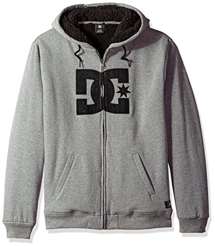 DC Men's Star Sherpa 3, Charcoal Heather, L
