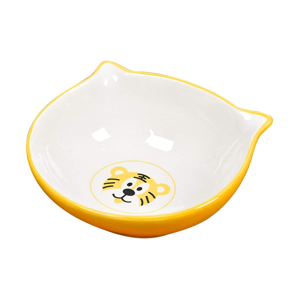 CQ Cute Ceramic Bowl Pet Bowl Cat Bowl Dog Bowl Cat Supplies Pet Supplies