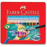 Faber-Castell 5170115930 Metal Kutu Aquarel Boya Kalemi, 24 Renk