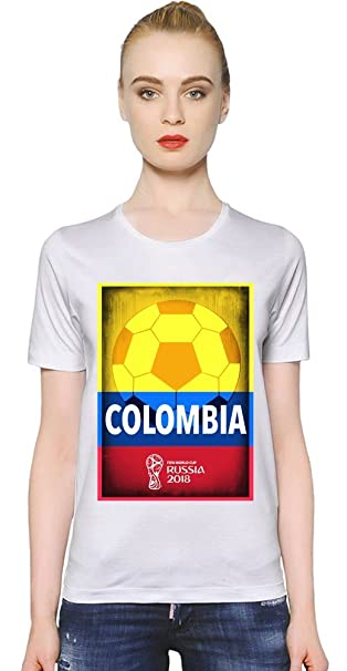 2018 Fooball World Cup Merch World Cup 2018 Football Colombia La Camiseta de Las Mujeres Women