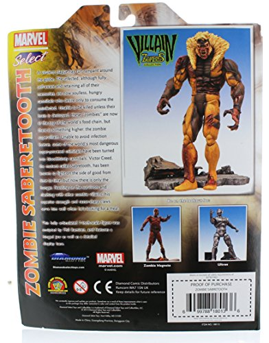 Diamond Select Toys Marvel Select: Zombie Sabretooth Action Figure