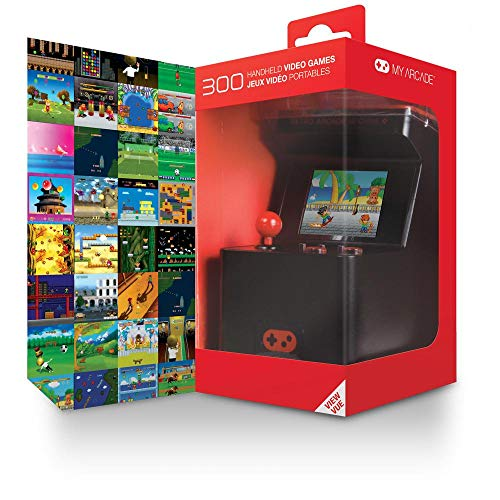 My Arcade - Retro Arcade Machine X Portable Gaming Mini Arcade Cabinet with 300 Built-in Hi-res 16 bit Games]()