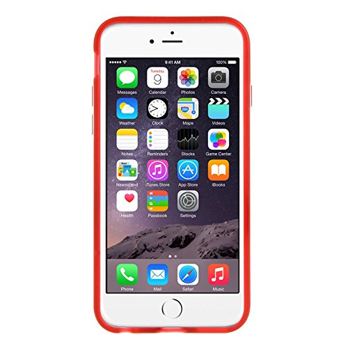 Apple iPhone 5 / 5s Caso Elegante - Hot Rosa Polka Dots TPU Gel Funda Case Para Apple iPhone 5 5s - thinkmobile Frosted Hülle mit Stand - Rot