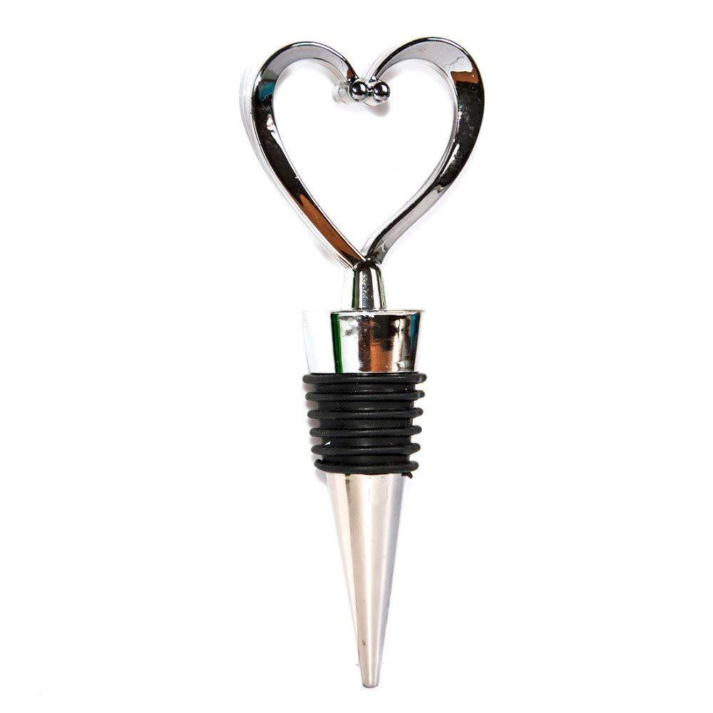 UU19EE Elegant Heart Shaped Red Wine Champagne Wine Bottle Stopper Valentines Wedding Gifts