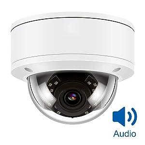 Camara Vigilancia, Anpviz H.264/ H.265 IR Camera IP PoE, IP Security Camera Night Vision 98ft, Motion Alert, Weatherproof IP66 ONVIF, Camaras Seguridad