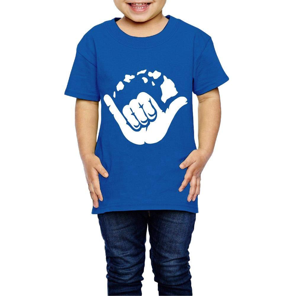 XYMYFC-E Aloha Hand Hawaii Symbol 2-6 Years Old Children Short Sleeve Tshirts