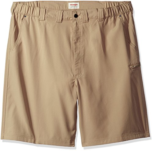 Utility Short - Wrangler Men's Big and Tall Authentics Performance Side Elastic Utility Short, Desert Sand, 44