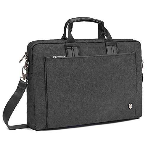 (Evecase City 13-13.3 inch Laptop Briefcase Messenger Bag, Professional Business Water Resistant Shoulder bag for Apple 13 Inch MacBook Air/Pro Retina, Microsoft Surface Pro 4/3 - Coal Gray)