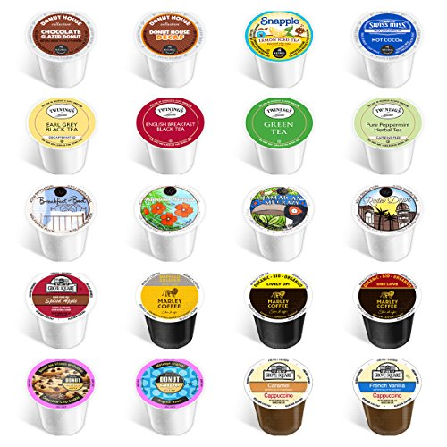 20-count - NEW Everything Variety Pack for Keurig® 2.0 Brewers - Featuring coffee, decaf, flavored, tea, cider, hot chocolate, snapple & cappuccino