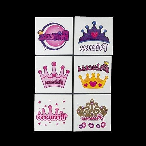 144 Princess Party Tattoos
