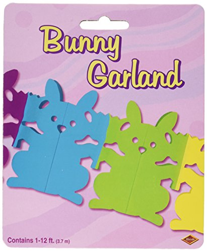 Bunny Garland Party Accessory (1 count) (1/Pkg) (Tulip Garland)