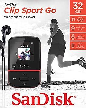 Sandisk Clip Sport Go 32 Gb Mp3 Player Rot Computer Zubehör