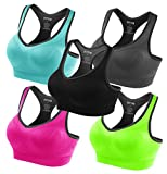 #2: FITTIN Racerback Sports Bras - Padded Seamless High Impact Support For Yoga Gym Workout Fitness