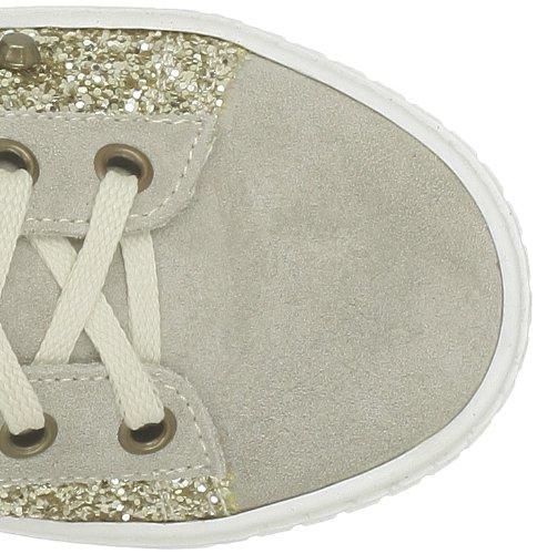 Ninette en Fleur - Zapatillas de deporte de cuero para niña Beige (Beige (Cam.Sand+Glitt.Plat.))