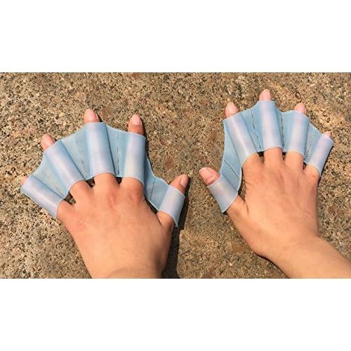 Exoh Coque en silicone type de la main de bain pour Gear Gants de Web d'entraînement Palmes S TAILLE