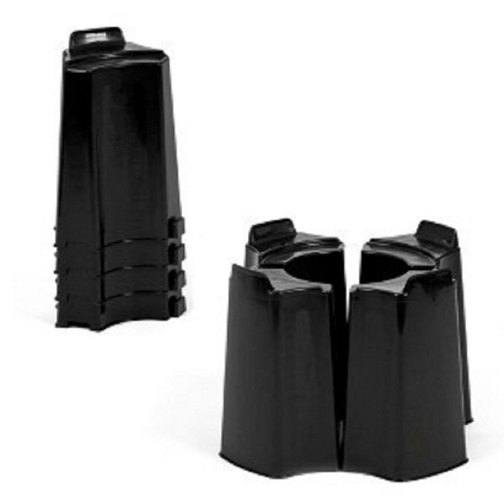 Black 4 Piece Adjustable Water Butt Stand - Fits Various Water Butts Original Organics