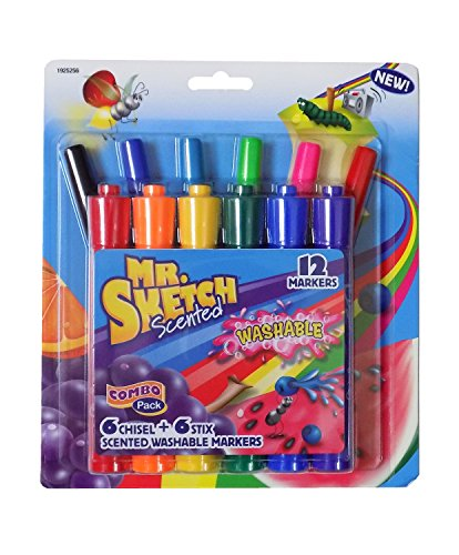 Mr.Sketch Scented Washable Marker Set 6//Pkg Stix Movie Night 071641086135