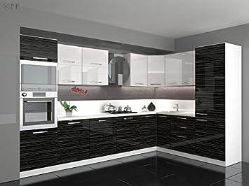 Global Trade Küche L Form Hochglanz 3,40 m x 2,20 ohne E-Geräte ...