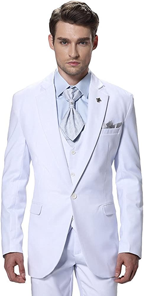 Lilis - Traje - para Hombre Blanco Blanco 54US/UK & 64EU ...