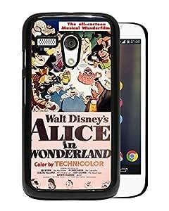 Vintage Alice In Wonderland Black Motorola Moto G Screen Phone Case Attractive and Fashion Design