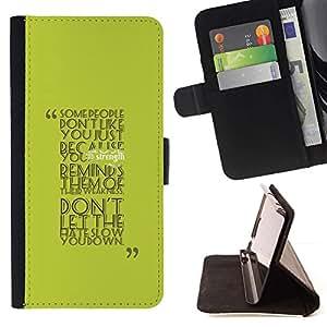 For Sony Xperia Z5 (5.2 Inch) / Xperia Z5 Dual (Not for Z5 Premium 5.5 Inch) Case , Algunas personas don? Como tú- la tarjeta de Crédito Slots PU Funda de cuero Monedero caso cubierta de piel