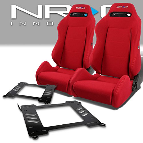 Pair of RSTRLGRD Racing Seats+Mounting Bracket for BMW 3-Series/M3 E46 Coupe