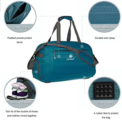 8afd98092d37 Coreal Sport Gym Bag Duffel Bag with Shoes Compartment for Men - Import It  All