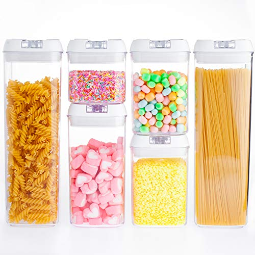 Airtight Food Storage Container Set of 6 with Lids made by Durable BPA-free Plastic for Keeping Food Dry & Fresh