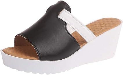Compensé Tissé Talon Peep Toe Escarpins Noir Espadrilles Mules Chaussures En Cuir Synthétique