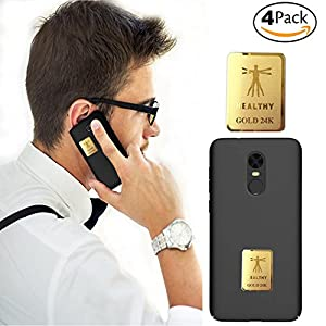 EMF Protection, Anti Radiation Protector Shield Sticker The Best EMR/EMF Neutralizer, Protect You and Your Family from Radiation EMF Shield for All Mobile Phones/Laptop/Tablet (4pack)