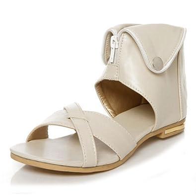 f2381c11f TAOFFEN Women Classic Gladiator Flats Sandals Bootie (US3 22cm EUR34 UK1