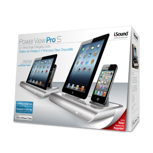 iSound Power View Pro S Charge and View Dock with 2 Apple 30 Pin Charge for iPad 1 2 & 3, all iPhones (except for iPhone 5 and above) , all iPod touches and more (white) by iSound (Image #5)
