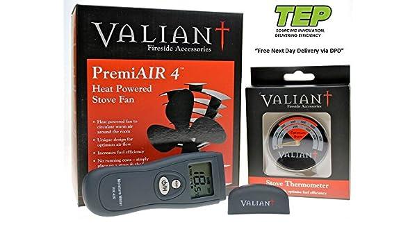 Ventilador de estufa - Valiant 4 PremiAIR de leña: Amazon.es: Hogar