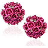YouBella Fashion Jewellery Summer Special Stylish Rose Shape Fancy Party Wear Earrings for Girls and Women