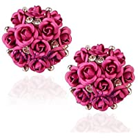 Youbella Rose Shape Earrings For Girls And Women
