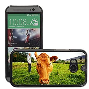 Super Stella Slim PC Hard Case Cover Skin Armor Shell Protection // M00145445 Farmer Cow Iceland Animals // HTC One M8