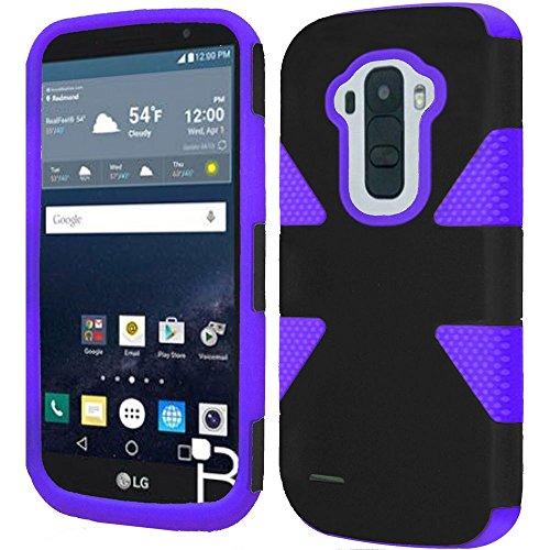 HR Wireless Cell Phone Case for LG G Stylo LS770 H631 G4 Stylus - Black +Purple -  BDYNMC-LGLS770-BKPrp