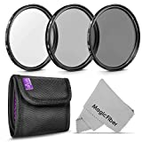 72MM Altura Photo Professional Photography Filter Kit (UV, CPL Polarizer, Neutral Density ND4) for Camera Lens with 72MM Filter Thread and Filter Pouch