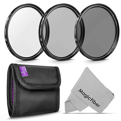 72MM Altura Photo Professional Photography Filter Kit (UV, CPL Polarizer, Neutral Density ND4) for Camera Lens with 72MM Filter Thread + Filter Pouch from Altura Photo