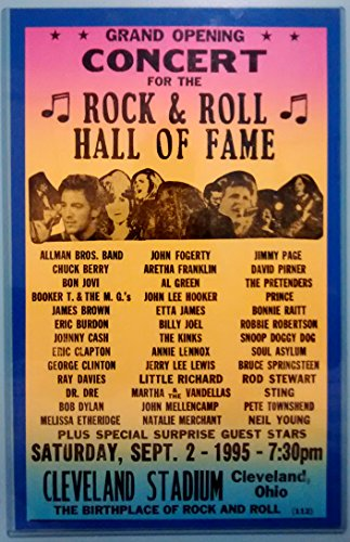 Rock and Roll Hall of Fame Concert Poster Matted in Crystal Clear (Rock Roll Concert Posters)