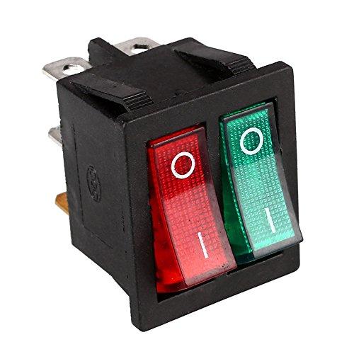 Duoying Interruptor de Doble Eje de balancín Interruptor de Palanca Interruptores duraderos Interruptor de Bricolaje Luces...