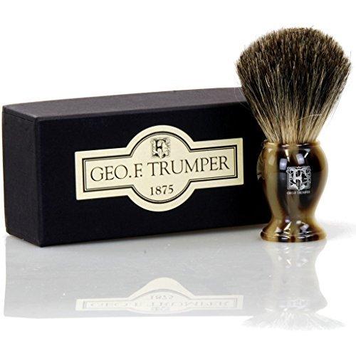 Geo F Trumper Simulated Horn Pure Badger Bristle Shaving Brush by Geo F. Trumper