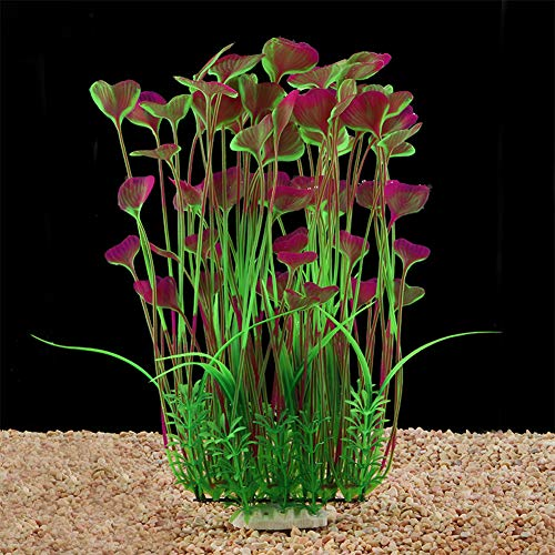 - QUMY Large Aquarium Plants Artificial Plastic Fish Tank Plants Decoration Ornament Safe for All Fish 15.7 inch Tall 7.09 inch Wide